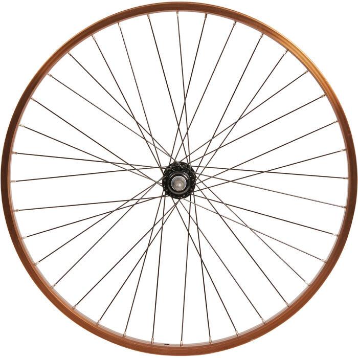 Rueda bicicleta júnior CRUISER 26 pulgadas delantera pared simple marrón