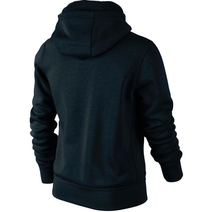 Sweat molleton zippé capuche garçon noir - 16351