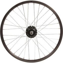 Roue vélo enfant WYLDEE 20 pouces avant double paroi disque noir