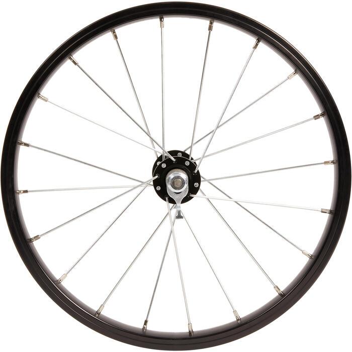 Rueda bicicleta júnior 16 pulgadas delantera negro