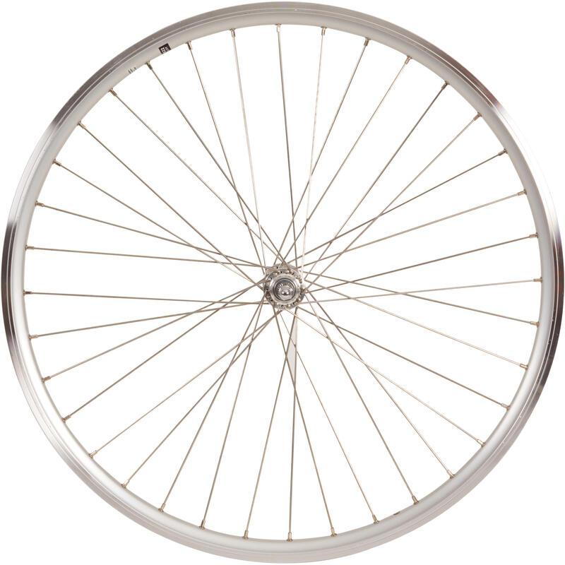 roue ville 28 avant double parois v-brake axe à boulons argente