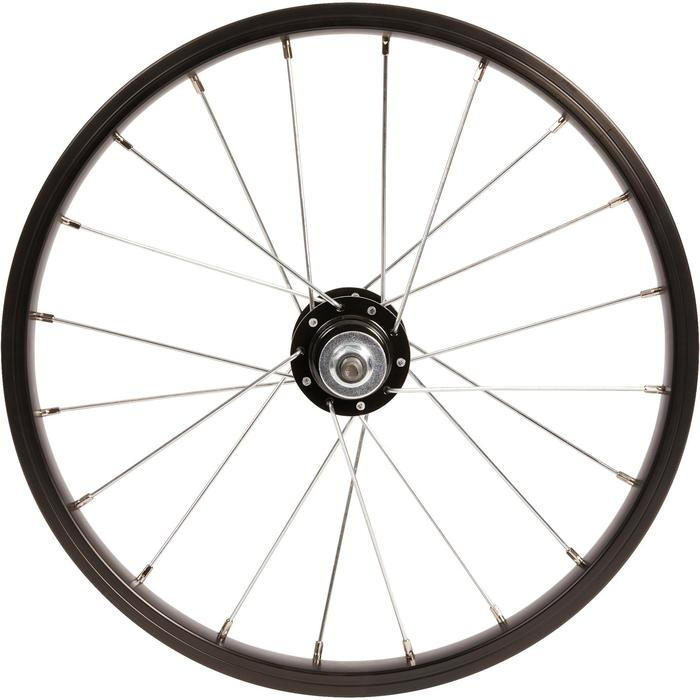 Rueda bicicleta júnior 16 pulgadas trasera negro