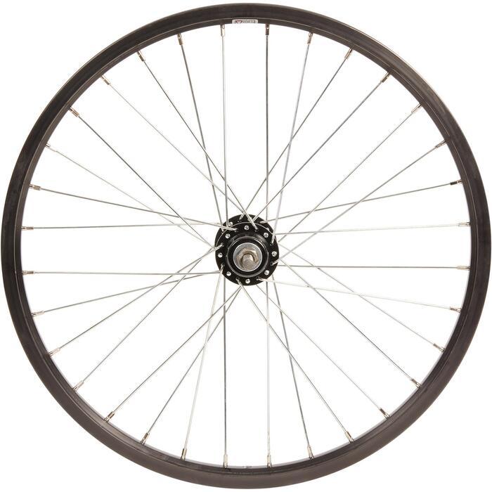 Dubbelwandig achterwiel voor WYLDEE-kinderfiets 20 inch freewheel zwart