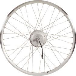 """wiel elek.fiets 28"""" dw 24v zilver"""