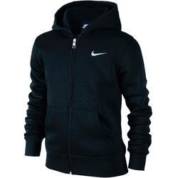 Zwarte molton hoodie jongen met  zip