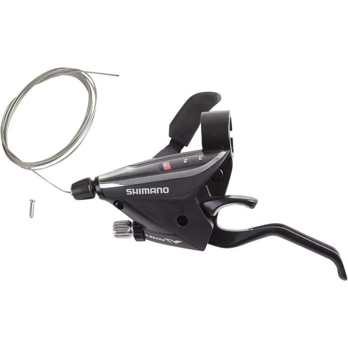 Set Shimano-shifter voorderailleur 3 versnellingen en remhendel