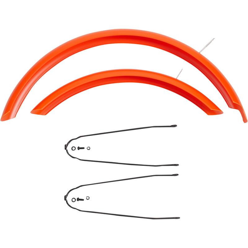 Garde boue vélo 20 pouces orange (par paire, vendu sans kit de vis)