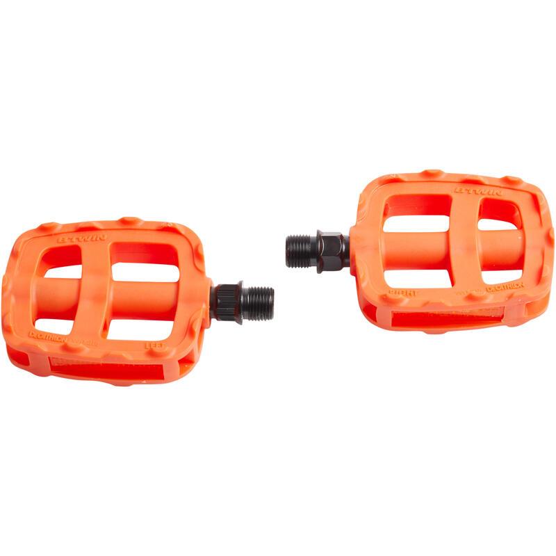 "Kids Bike Pedals 16"" 20"" - Orange"