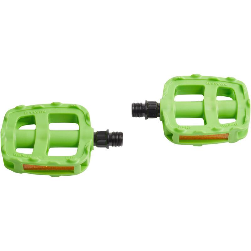 """Kids Bike Pedals 16"""" 20"""" - Green"""