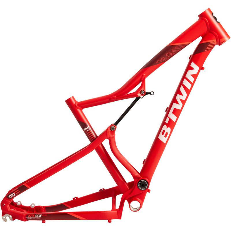 FRAME MTB Cycling - RR 540s 2017 Frame - Red ROCKRIDER - Bike Parts