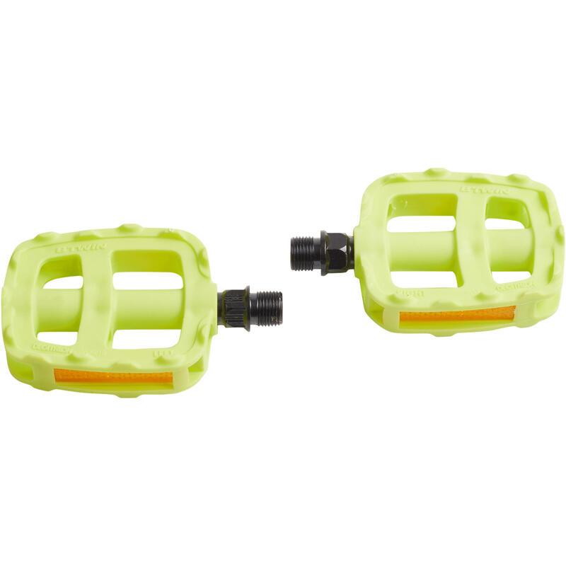 Pédales vélo enfant 16 et 20 pouces jaune