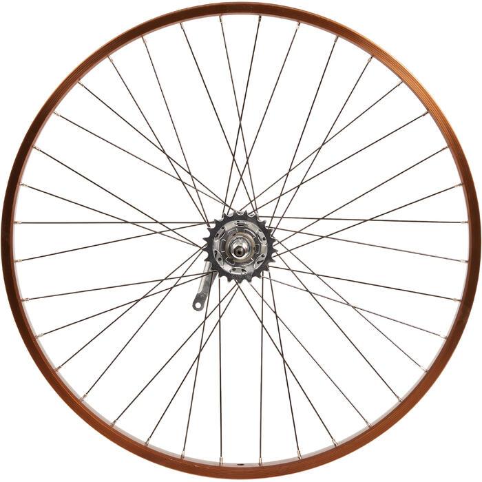 Roue vélo enfant CRUISER 26 pouces arrière simple paroi nexus3 tambour marron