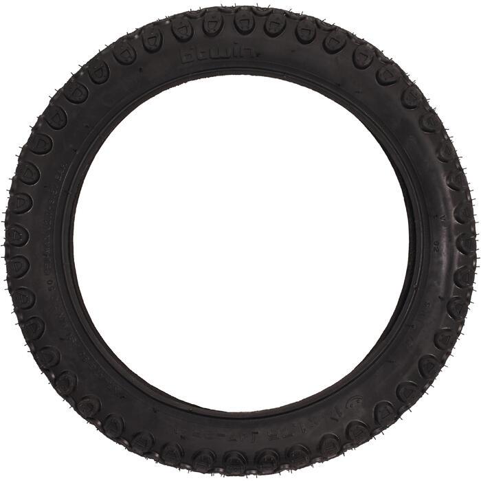 Buitenband voor kinderfiets draadband 14X1.75 / ETRTO 47-254 zwart
