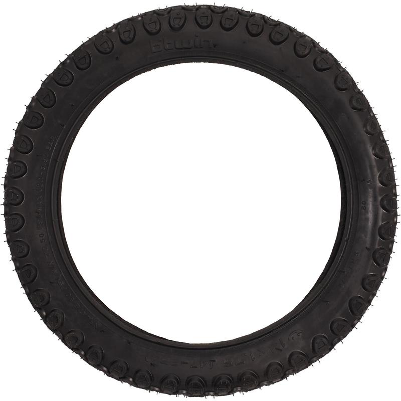 Pneu vélo enfant tringle rigide 14X1.75 / ETRTO 47-254 noir