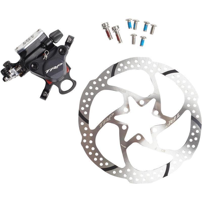 Kit Pinza de Frenos Mecánicos Hydro Trp Hidráulicos + Discos Bicicleta Carretera