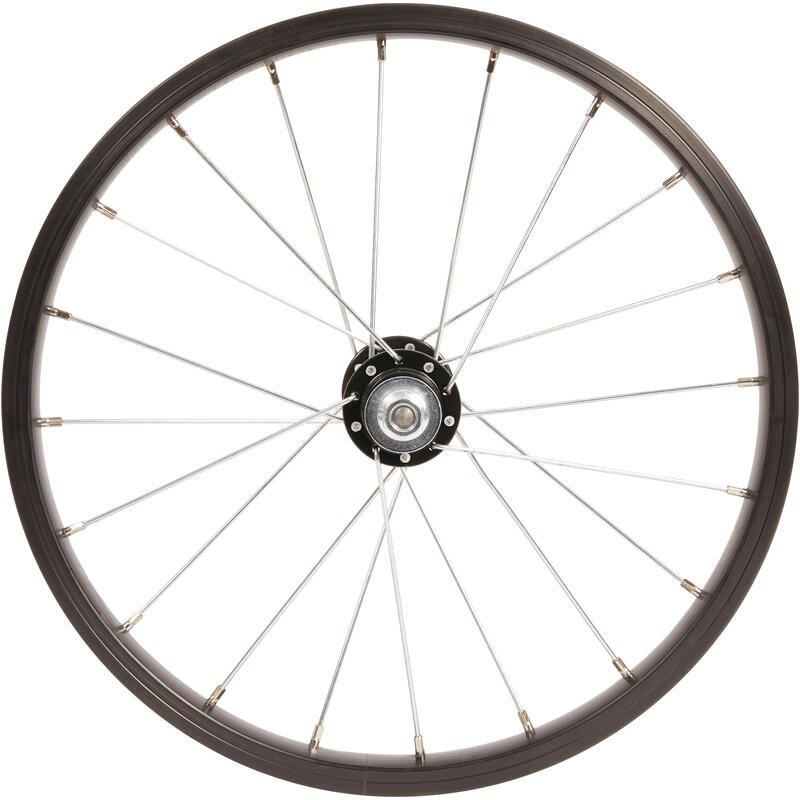 Roue vélo enfant 16 pouces avant axe OLD100 noir