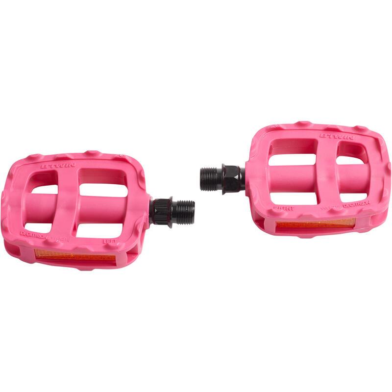 Pédales vélo enfant 16 et 20 pouces rose