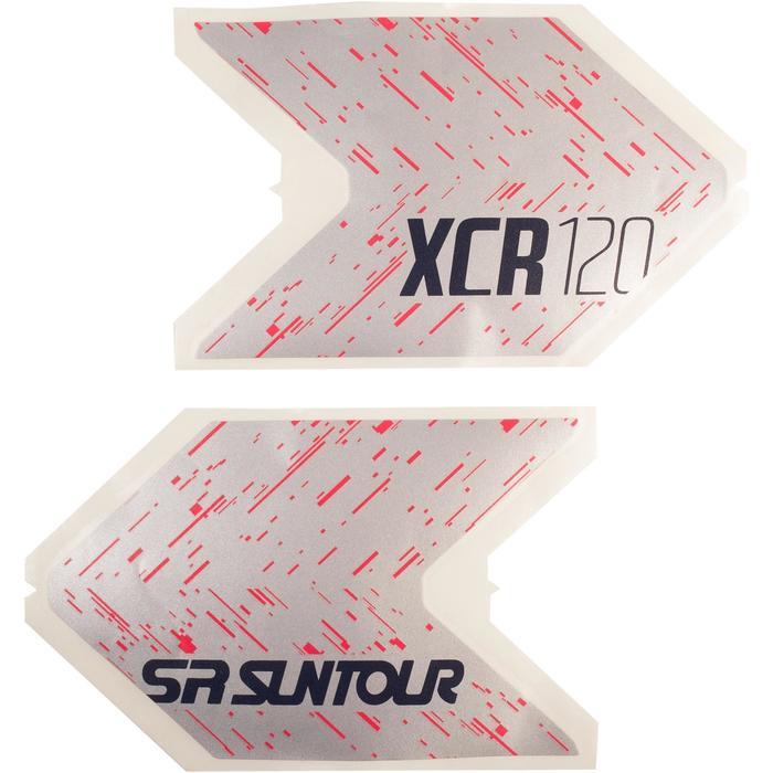 Set stickers fiets roze