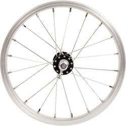Rueda bicicleta infantil 14 pulgadas delantera plateado