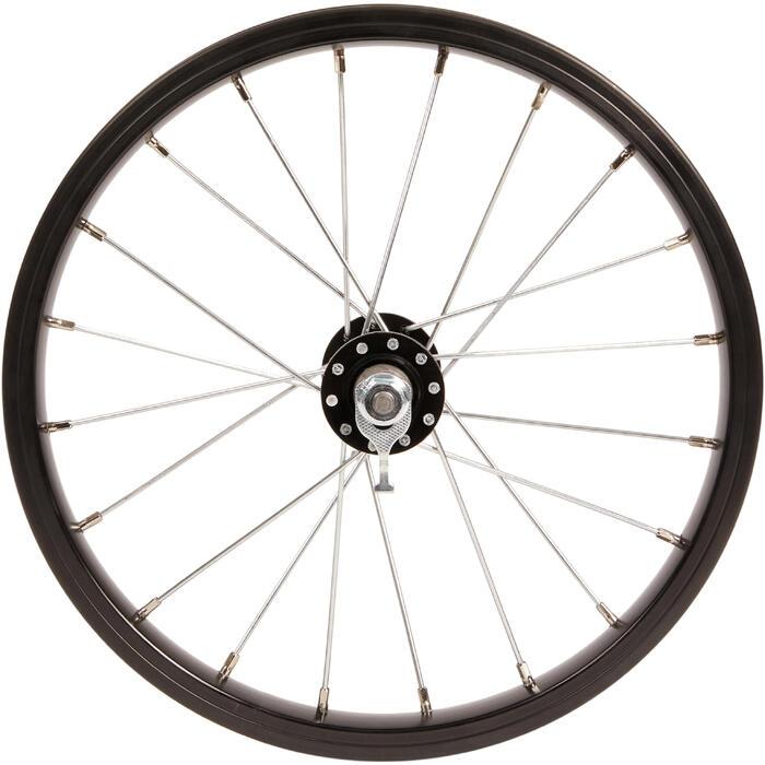 Rueda bicicleta infantil 14 pulgadas delantera negro