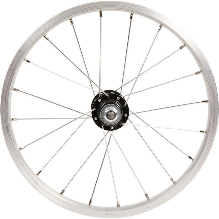 Roue vélo enfant 16 pouces arrière roue libre frein tambour/vrake argent
