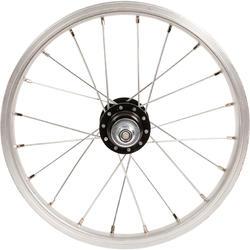 Roue vélo enfant 14 pouces arrière roue libre frein tambour/vrake argent