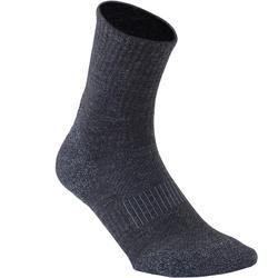Sokken voor sportief wandelen/nordic walking WS 580 Warm zwart