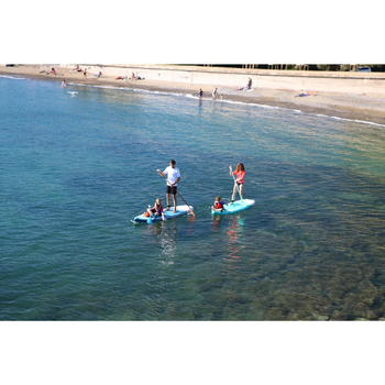 Beginner Touring Inflatable Stand-Up Paddle Board 10 Foot - Green