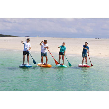PAGAIE STAND UP PADDLE 100 DEMONTABLE REGLABLE 170-220 CM VERTE