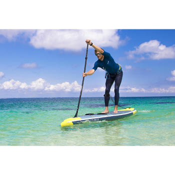 LEASH SPIRALE GENOU STAND UP PADDLE NOIR (0,5 M à 2,8 M)