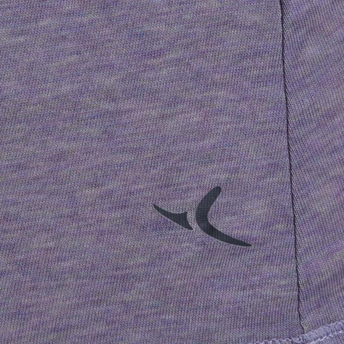 500 Women's Regular-Fit Gentle Gym & Pilates T-Shirt - Purple