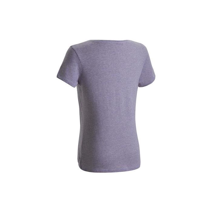 女款標準剪裁溫和健身與皮拉提斯T恤500 - 紫色