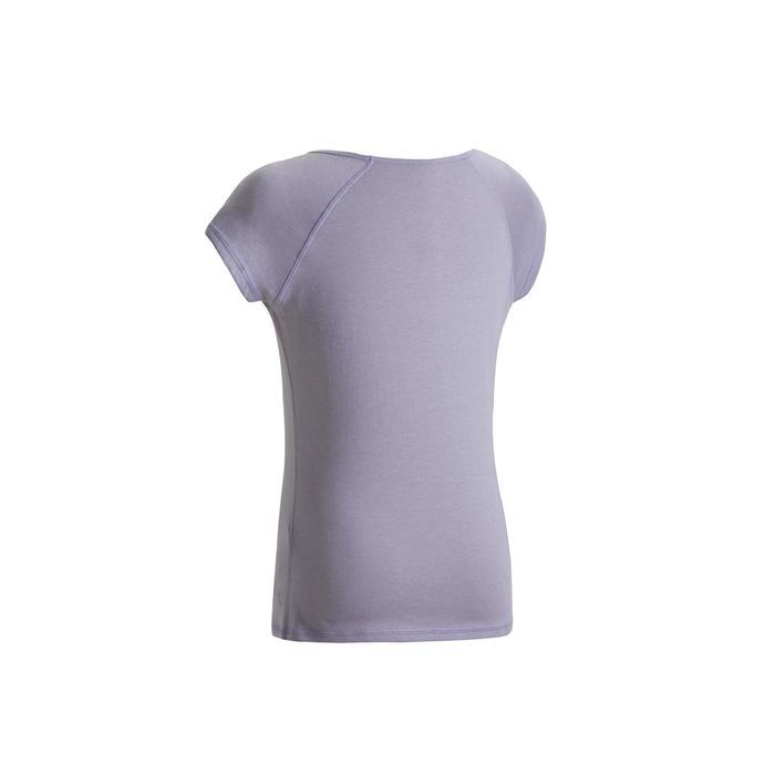 女款修身剪裁溫和健身與皮拉提斯T恤500 - 紫紅色