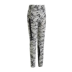 520 Women's Pilates & Gentle Gym Leggings - Black/Beige Print