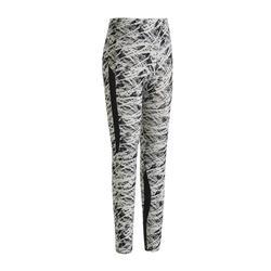 女款皮拉提斯與溫和健身緊身褲520 - 黑色/米色印花