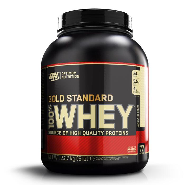 Eiwitshake Gold Whey Standaard vanille 2,2g