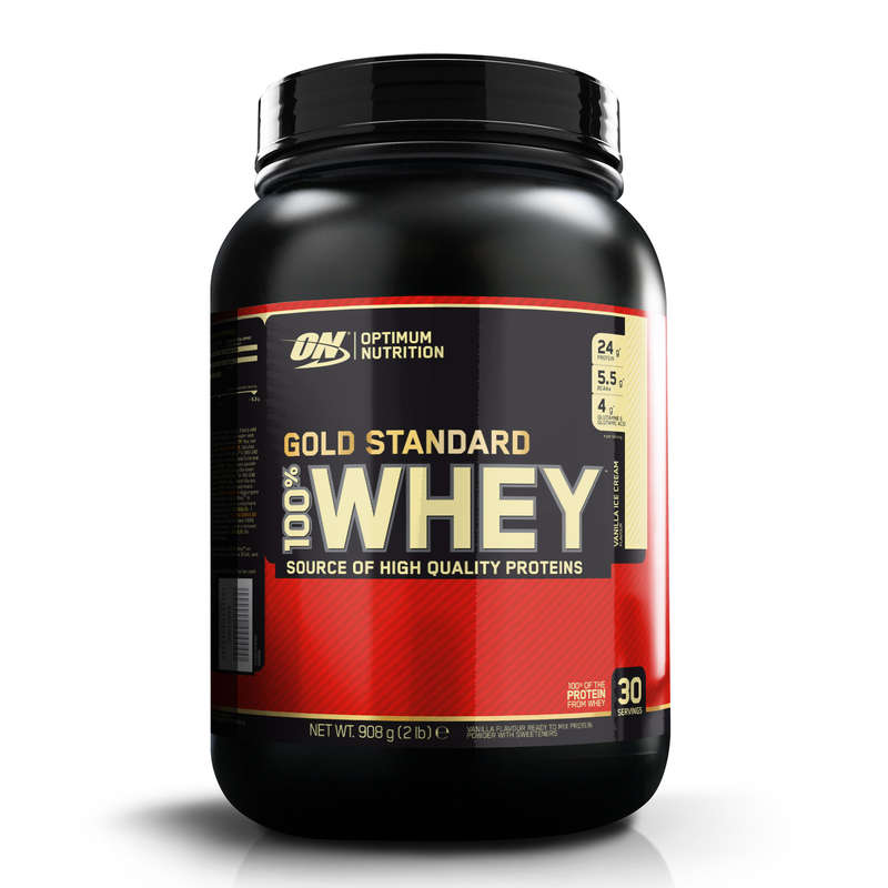 PROTEINE ȘI SUPLIMENTE ALIMENTARE Fitness Cardio, Bodybuilding, Crosstraining, Pilates - Whey Gold Standard ON Vanilie OPTIMUM NUTRITION - Proteine si suplimente alimentare