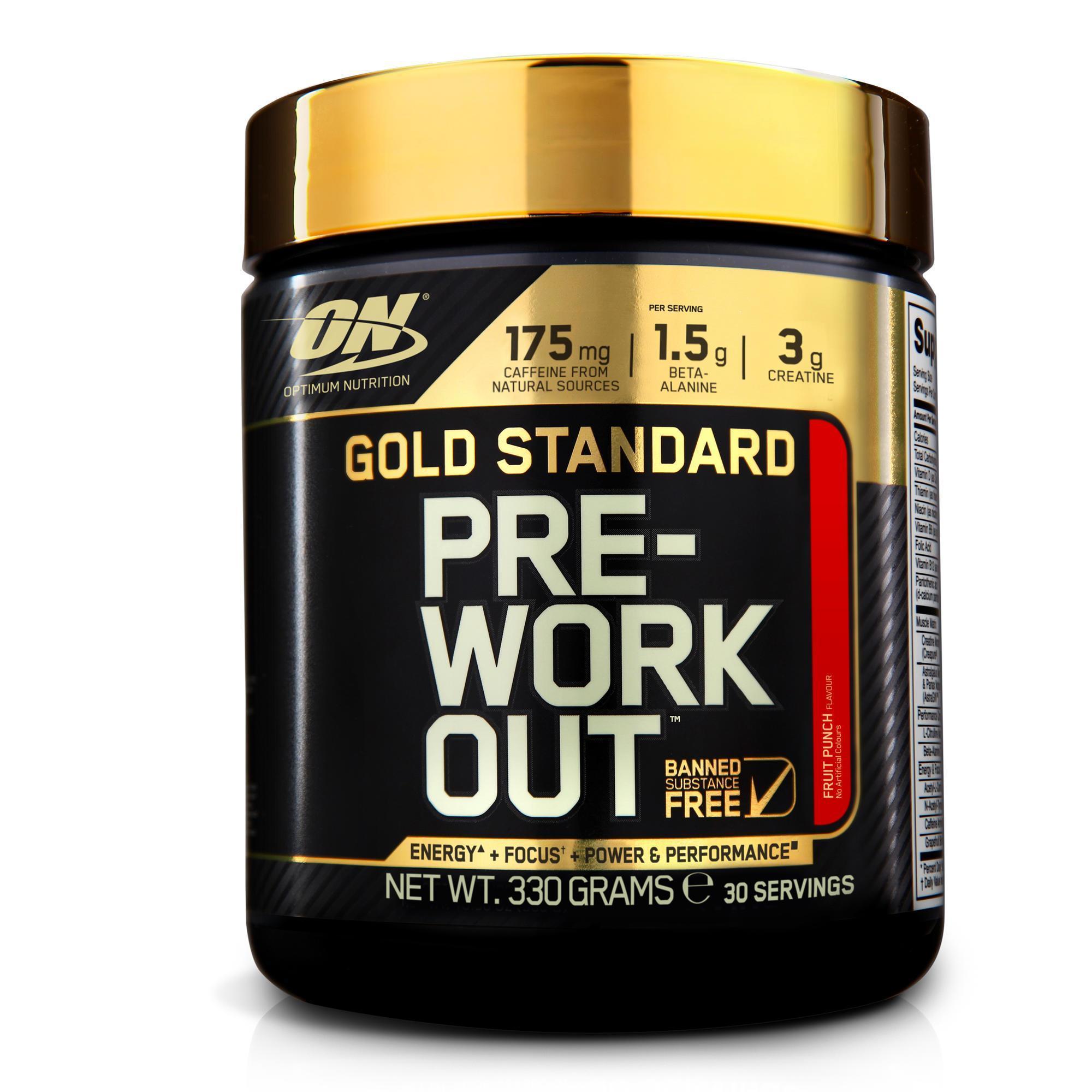 Optimum nutrition em Pre Workout Gold Standard fruit punch 330 g kopen