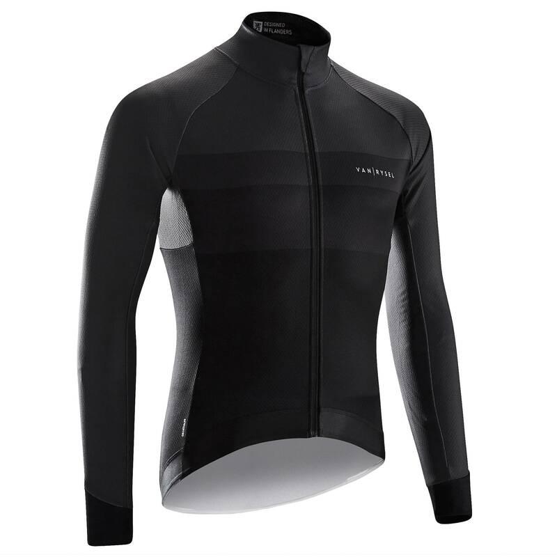 OBLEČENÍ NA SILNIČNÍ CYKLISTIKU JARO A PODZIM Cyklistika - CYKLISTICKÝ DRES ROAD RACING  VAN RYSEL - Helmy, oblečení, obuv