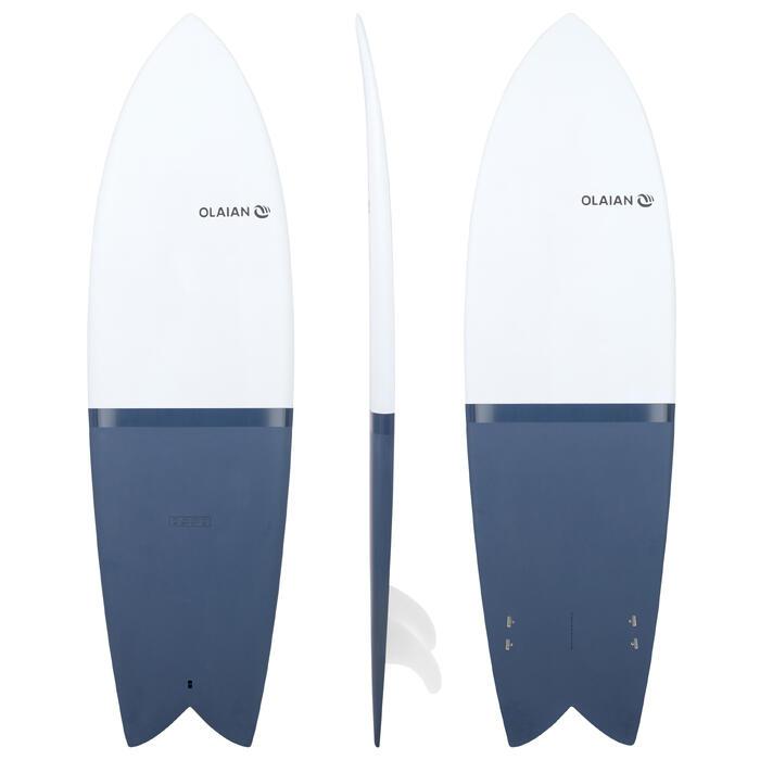 Surfboard Hardboard 900 Retrofish 6' 35l mit 2 Finnen