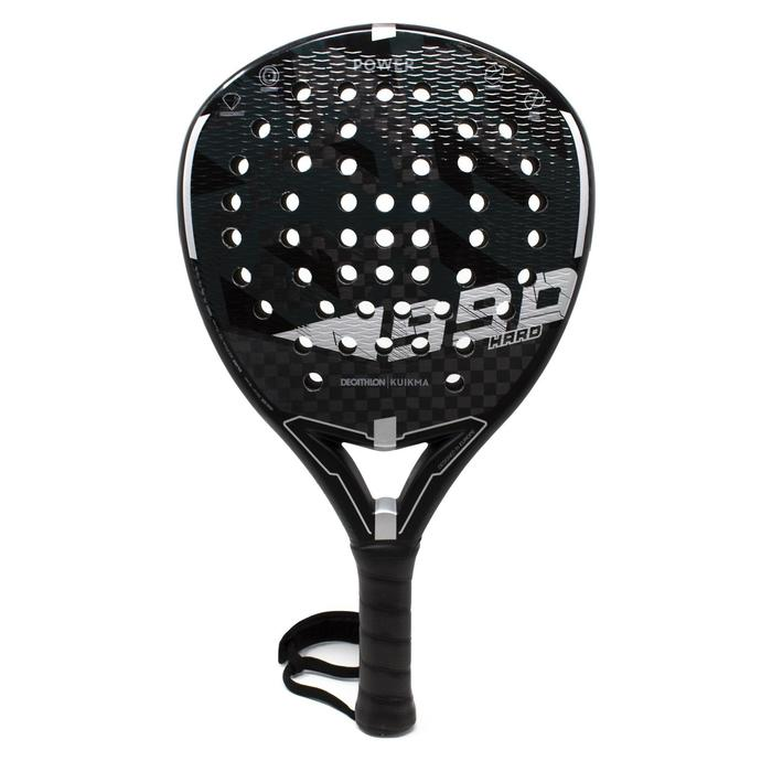 Pala Padel Kuikma PR990 Power Hard Adulto Negro Gris