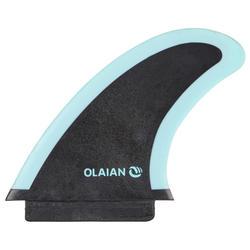 """Aileron soft edge 4,5"""" noir bleu pour surf 900 soft 6'"""