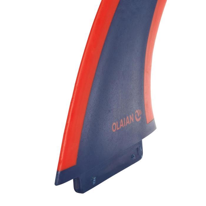 """Aileron soft edge 5,5"""" marine rouge pour surf 900 soft 5'4"""""""
