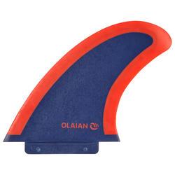 """Finne Soft Edge 5,5"""" für Surfboard 900 Soft 5'4"""" aus Schaumstoff marineblau/rot"""