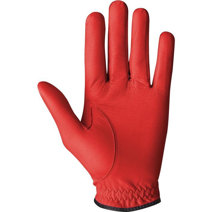 Guante de golf hombre 500 perfeccionamiento y experto diestro rojo
