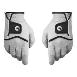 女款進階及專業級高爾夫球手套500(1雙入)-白色