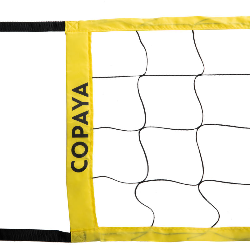 BV100 Wiz Net Volleyball and Beach Volleyball Net - Yellow