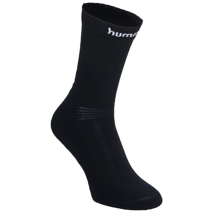 Handballsocken Erwachsene schwarz/weiß