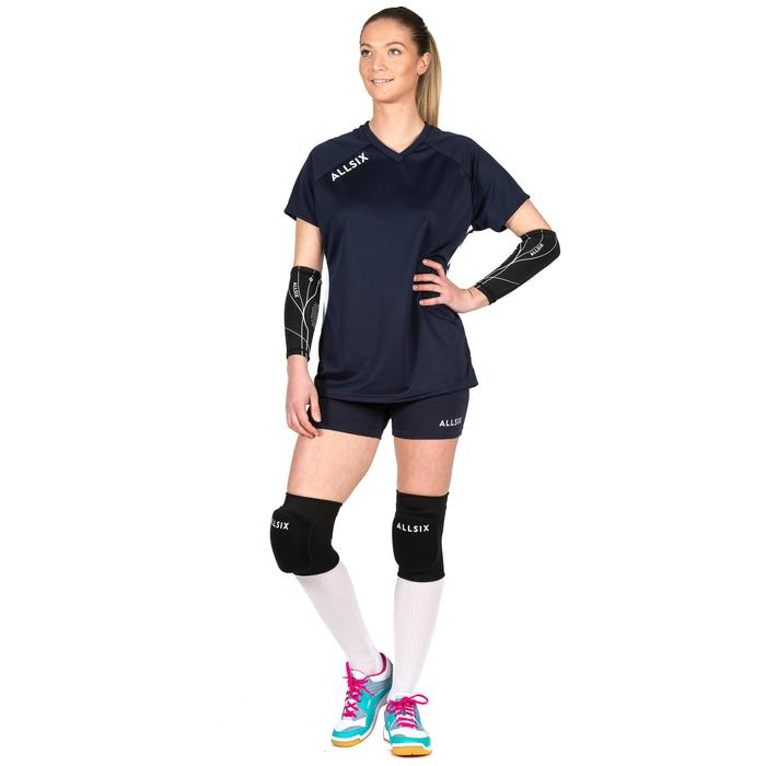 Camiseta de Voleibol Allsix V100 mujer azul marino