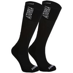 Calcetines de Balonmano Atorka H500 Largos Negro Blanco